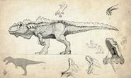 Hyperendocrin Giganotosaurus Concept Art The Isle