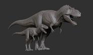 Juvenile Tyrannosaurus Model The Isle