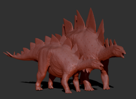 Juvenile Stegosaurus Model The Isle