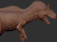 Allosaurus 3D Model Art The Isle