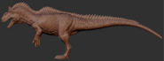 Allosaurus Full Body 3D Model Art The Isle