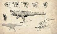 Hyperendocrin Carnotaurus Concept Art The Isle