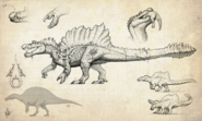 Hyperendocrin Spinosaurus Concept Art The Isle