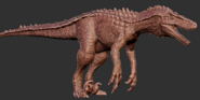 Hyperendocrin Utahraptor Model Art The Isle