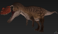 Red Ceratosaurus The Isle