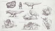 Tyrannosaurus Sketch Art The Isle