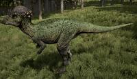 Green Pachycephalosaurus The Isle