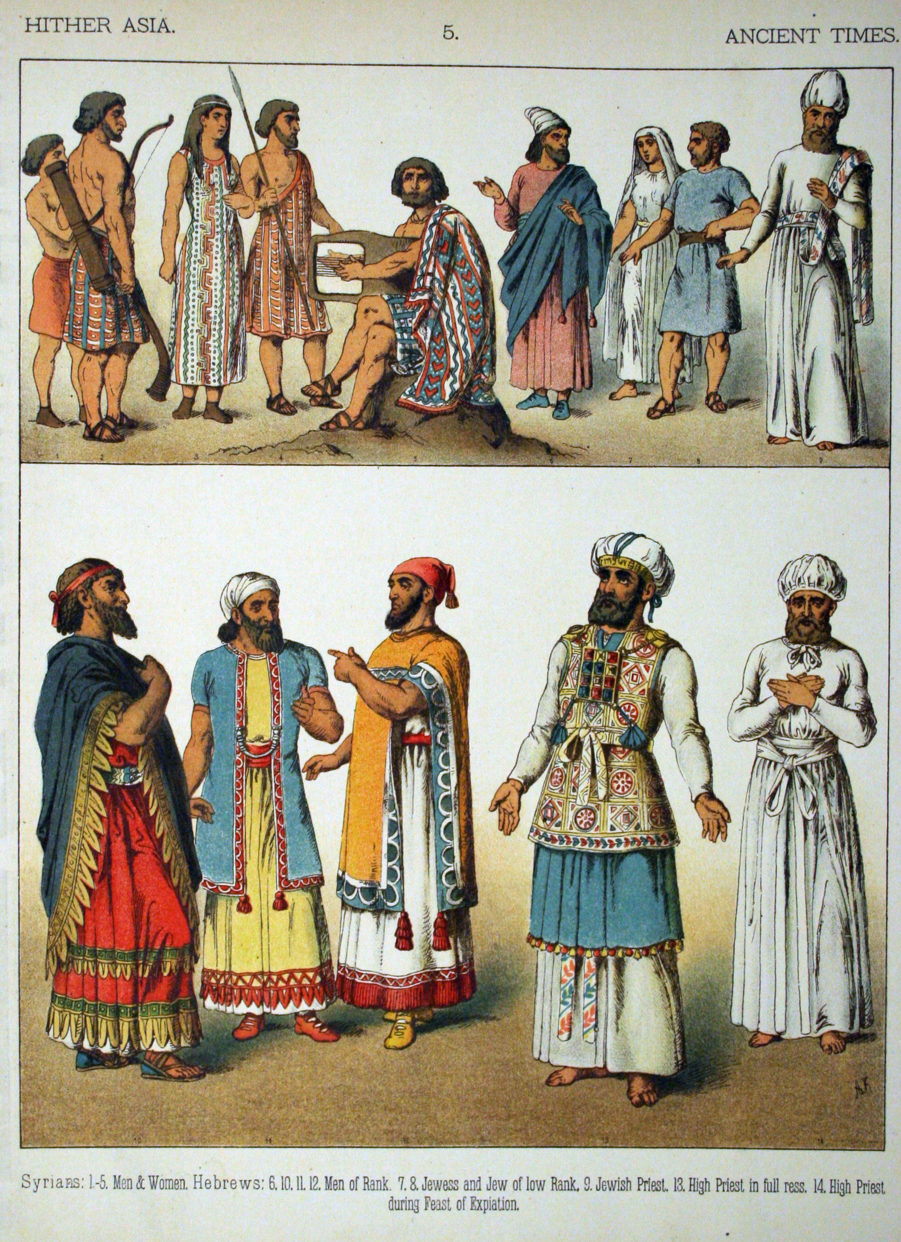 Image ancient times hither asia 005 costumes of all nations ancient times hither asia 005 costumes of all nations 1882 near easterns fig 1 5 canaanites aamu hyksos fig 6 14 hebrews israelites jews from publicscrutiny Images