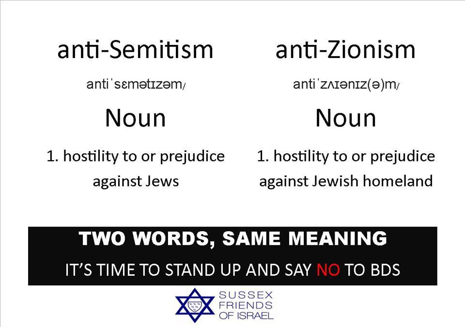 image anti semitism anti zionism two words same meaning it s