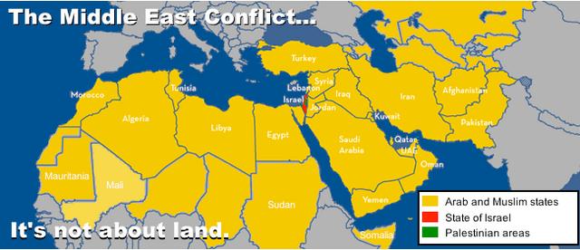 קובץ:The Middle East Conflict... It's NOT about land. credit Philippe Assouline 2013.png