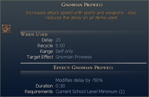 Gnomian Prowess