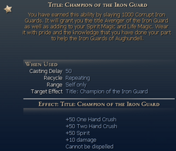 Title Champion of the Guard