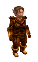 Antique Gold Mithril Chainmail Armor
