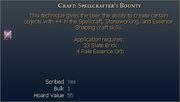 Craft Spellcrafter's Bounty