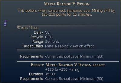 Metal Reaping Potion