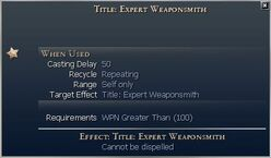 Title Expert Weaponsmith