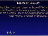 Token of Loyalty