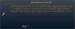 Elemental Sliver