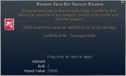 Weapon Tech Kit- Frozen Weapon