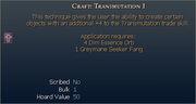 Craft Transmutation I