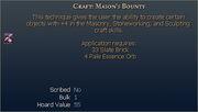 Craft Mason's Bounty