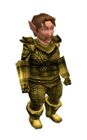 Gold Mithril Chainmail Armor
