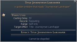 Title Journeyman Lairshaper