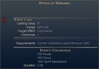 Special Potion of Memories