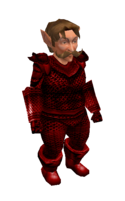 Red Mithril Chainmail Armor