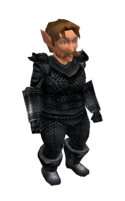 Black Mithril Chainmail Armor