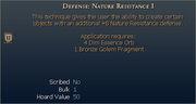 Defense Nature Resistance I