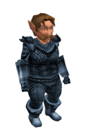 Light Steel Blue Mithril Chainmail Armor