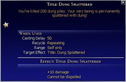 Title Dung Splattered