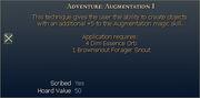 Adventure Augmentation I