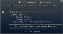 Title Knowledge Seeker