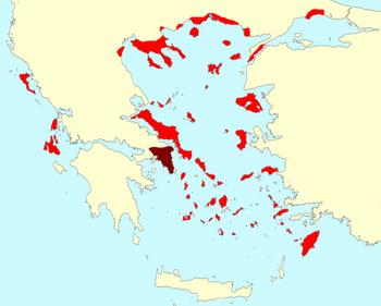 Second athenian league map