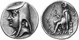 Coin of Arsaces I of Parthia