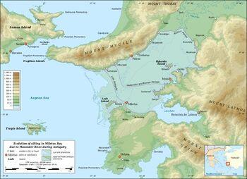 Miletus Bay silting evolution map-en