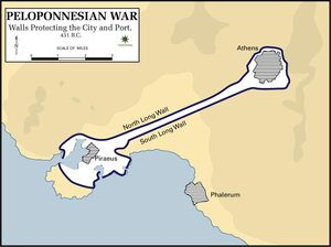 Pelopennesian War, Walls Protecting the City, 431 B.C.