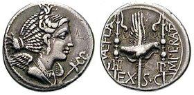 Flaccus imperator denarius