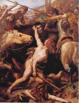 462px-Sylvestre Ducar decapite Flaminius (Trasimene)