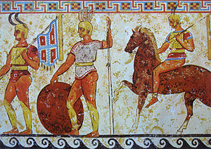 300px-Samnite soldiers from a tomb frieze in Nola 4th century BCE