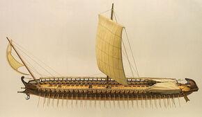 800px-Model of a greek trireme