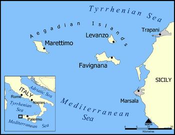 Aegadian Islands map