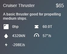 Cruiser Stats