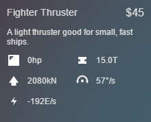 Fighter Thruster Stats