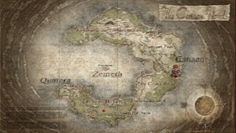 map of the islands of canaan