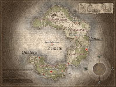 Canaan Islands Map