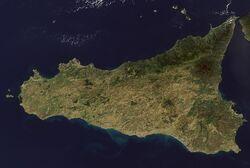 Sicilia mappa satellitare