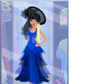Sheer Cobalt Dress Miss Lashalle hot47